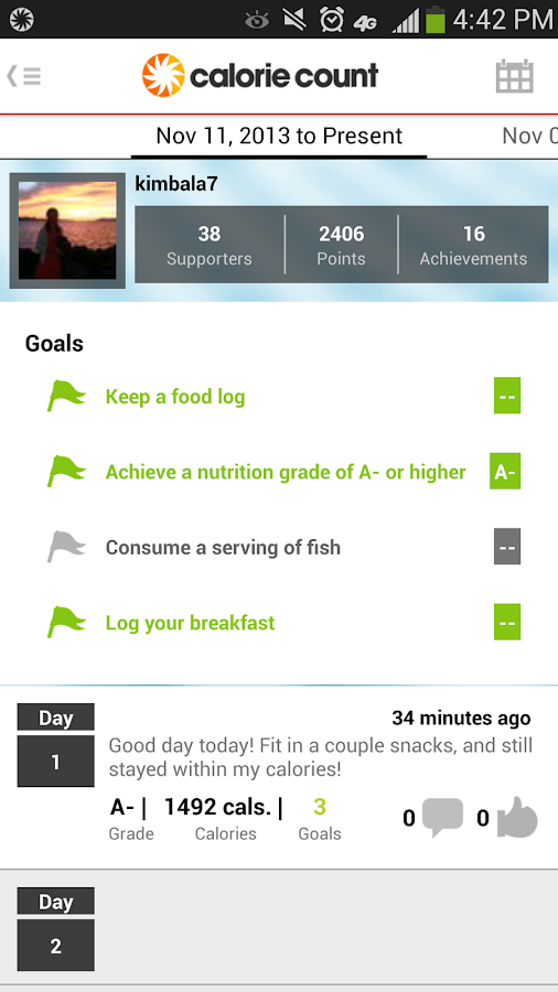 Calorie Counter - screenshot