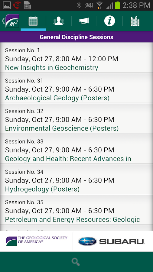 The GSA 2013 Annual Meeting - screenshot