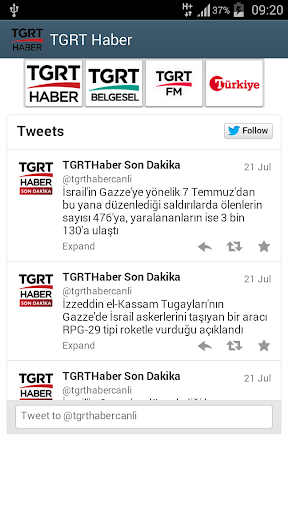 TGRT HABER Türkiye gazetesi