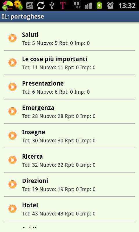 Imparare il portoghese- screenshot