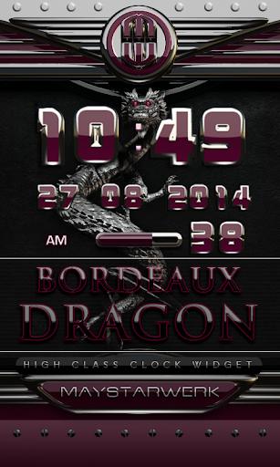 dragon digital clock bordeaux