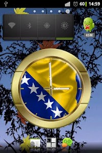 BiH flag clocks screenshot 0