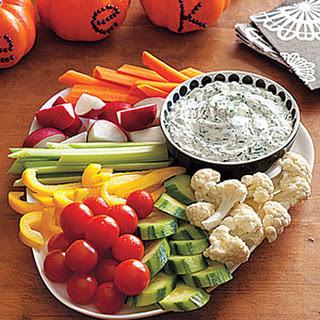Buttermilk-Herb Dip with Crudités.