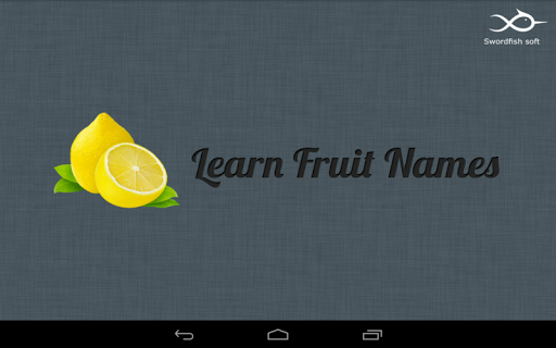 Kids Learning Fruits