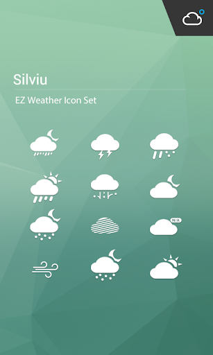 精緻典雅純白極簡主題天氣圖標包
