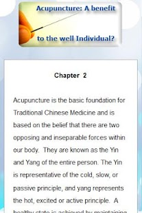 Benefits of Acupuncture - screenshot thumbnail