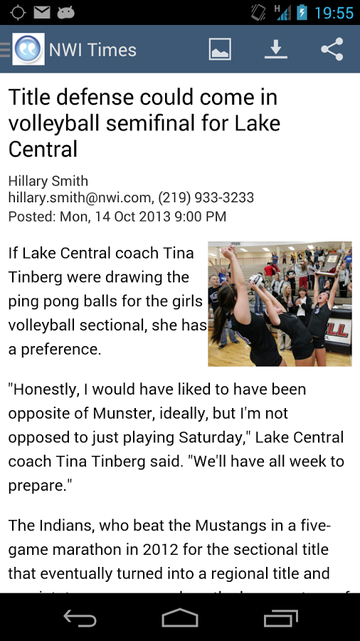 NWI Times- screenshot