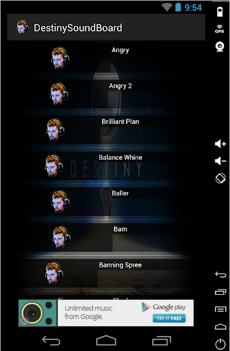 Destiny SoundBoard