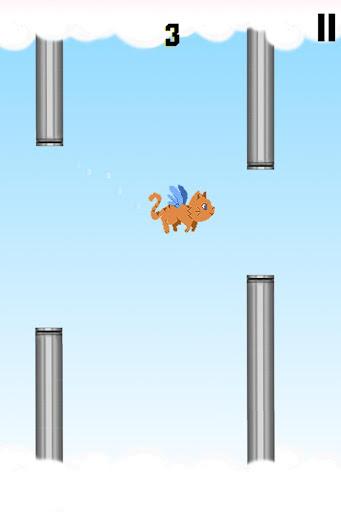 ピクセル猫は飛ぶことができない