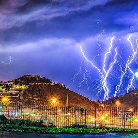 Striking by Alexius van der Westhuizen - Landscapes Weather ( thunder, lightning, storms, cloud burst, electric storms,  )