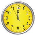 Yellow clock (Wallpapyrus pro) icon