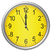 Yellow clock (Wallpapyrus pro)
