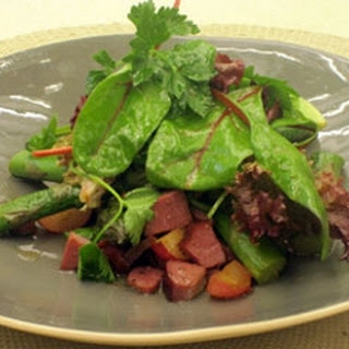 Asparagus And Smoked Duck Salad.