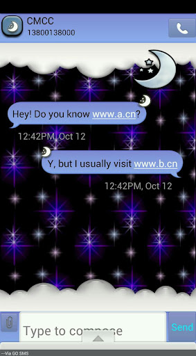 GO SMS THEME HalloweenMoon1
