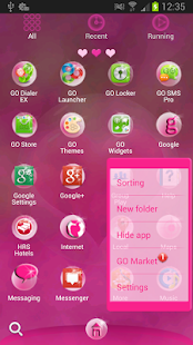 GO Launcher EX Hearts Theme - screenshot thumbnail