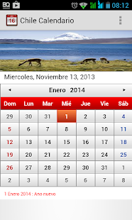 Chile Calendario 2014 - screenshot thumbnail
