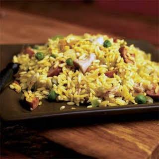 One-Dish Chicken and Kielbasa Rice.