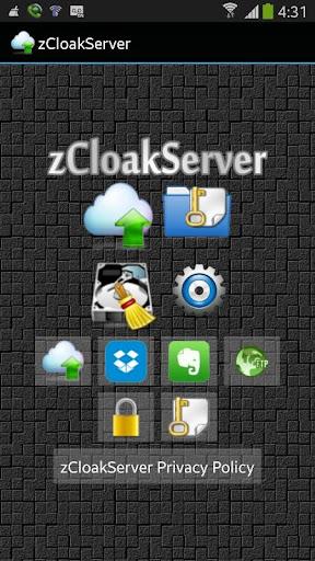 zCloakServer Cloud Manager