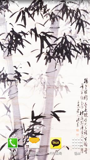 bamboo inkwash wallpaper