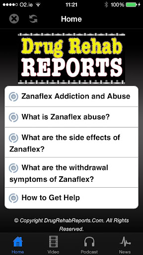 Zanaflex Addiction and Abuse