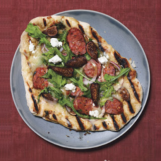Grilled Sausage and Fig Pizza with Goat Cheese