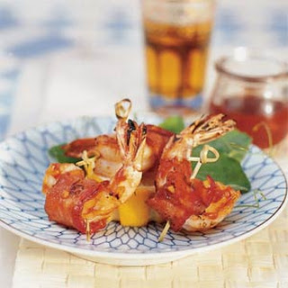 Barbecued Bacon Shrimp