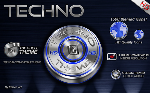 TSF Shell HD Theme Techno 3D v3.0