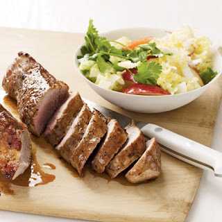 Pork Tenderloin with Cabbage and Apple Slaw Recipe