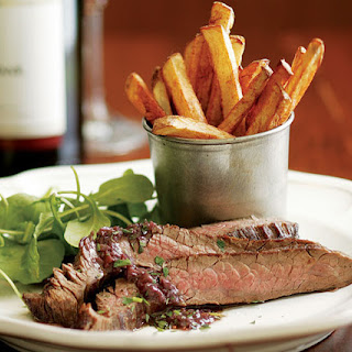 Seared Flank Steak with Shallot-Mustard Sauce