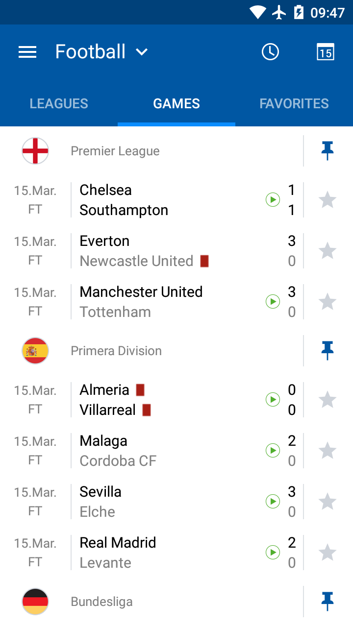 LiveScore results - SofaScore screenshot #5