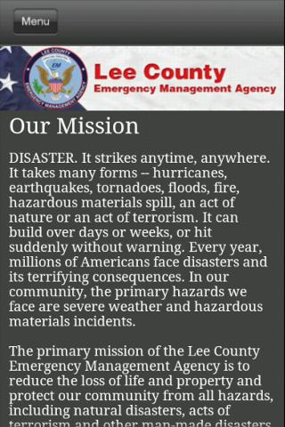 Lee County EMA - screenshot