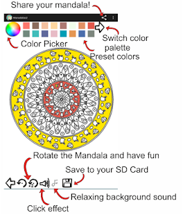 Mandalas Coloring- screenshot thumbnail