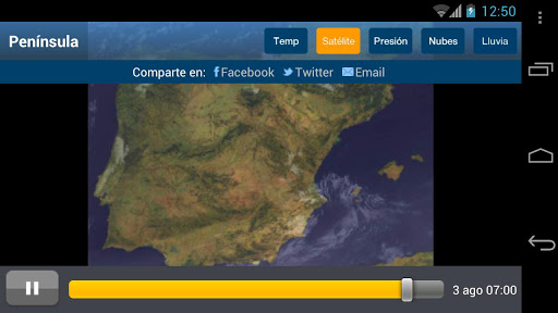 Tiempo y Temperatura screenshot