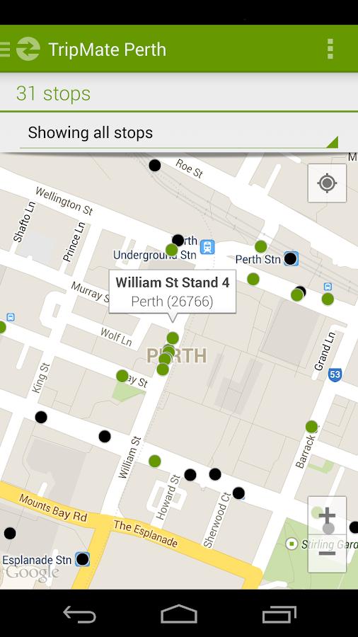 TripMate Perth Transit App - screenshot