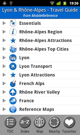Lyon Rhône-Alpes Guide Map