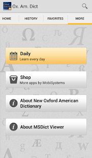 New Oxford American Dictionary - screenshot thumbnail