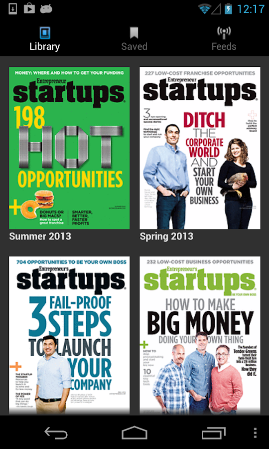 Entrepreneur's Startups Mag - screenshot