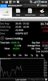 Portfolio Tracker (Stocks)- screenshot thumbnail