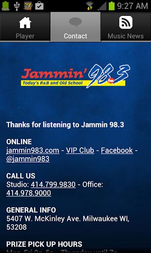 音樂必備APP下載|Jammin 98.3 好玩app不花錢|綠色工廠好玩App