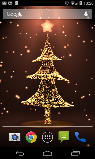 圣诞动态壁纸树