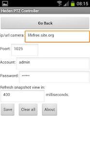 Heden PTZ Controller - screenshot thumbnail