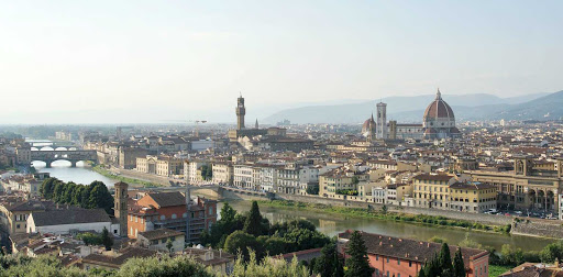 view-florence-italy - The cityscape of Florence, Italy.