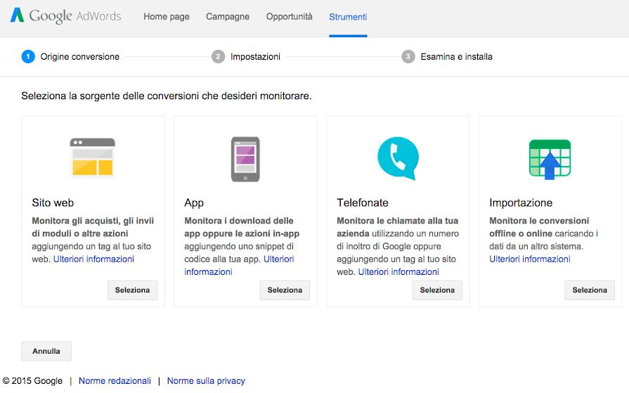 Monitorare i clic sul numero di telefono nel sito web per for Sito web per la progettazione di mobili