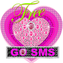 Diamond Pink Heart Theme 4 GO icon