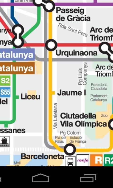 Карта метро Барселоны –