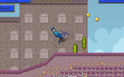 的警察自行車運行 - 比賽遊戲