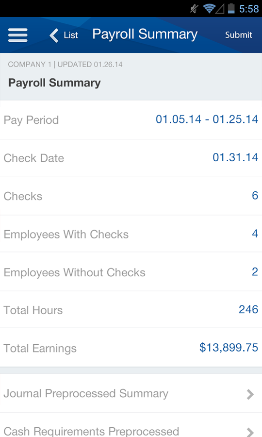Paychex Flex- screenshot