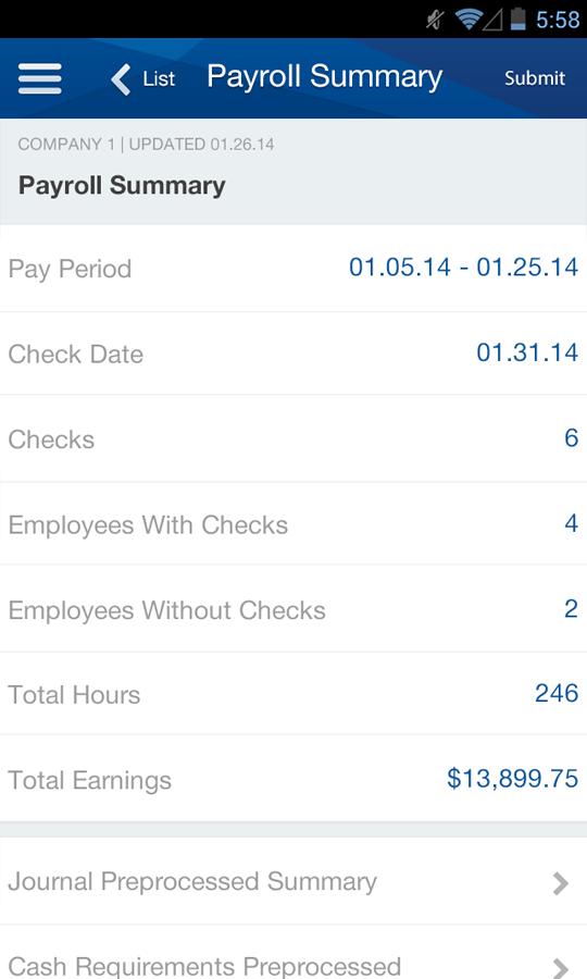 Paychex Flex - screenshot