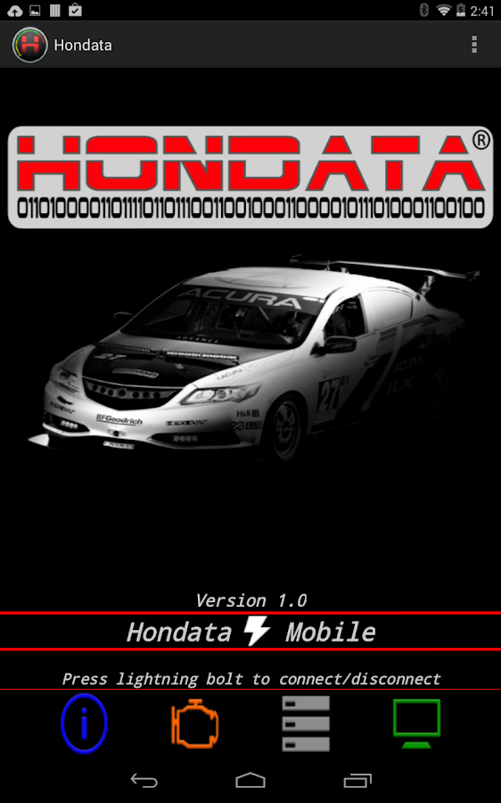 Hondata Mobile- screenshot