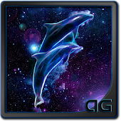 Starfield Dolphins Galaxy LWP